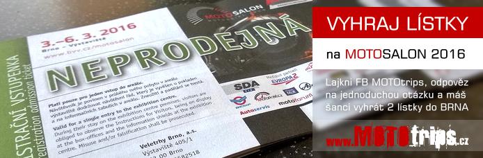 Vyhraj 2 lístky na MOTOSALON 2016 v Brně