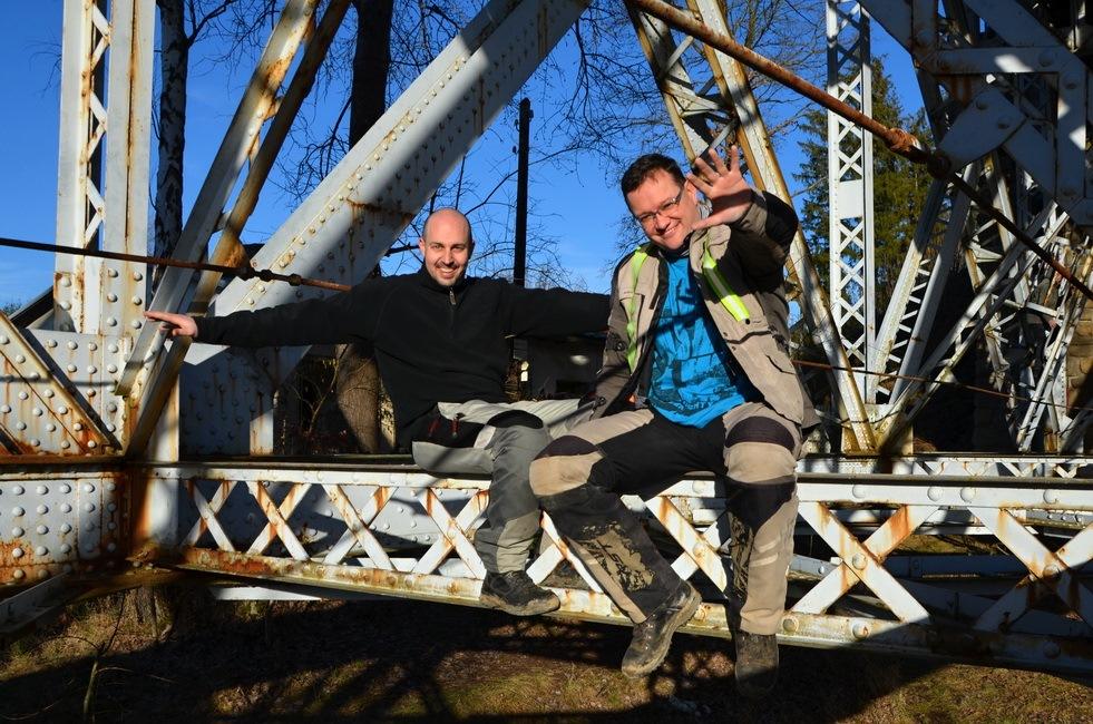 MOTOtrips - Železniční most u Červené